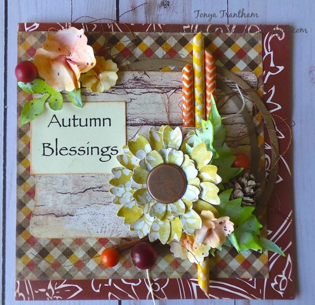 Eileen Hull Holiday Sizzix Project Tutorials: Dimensional Autumn Card by Tonya Trantham