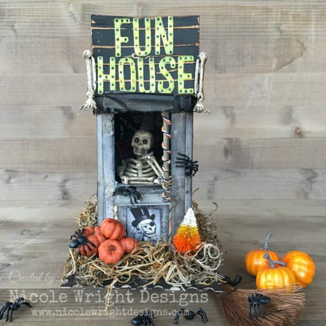 Eileen Hull Holiday Craft Project Techniques and Tutorials: Halloween Fun House Canister by Nicole Wright