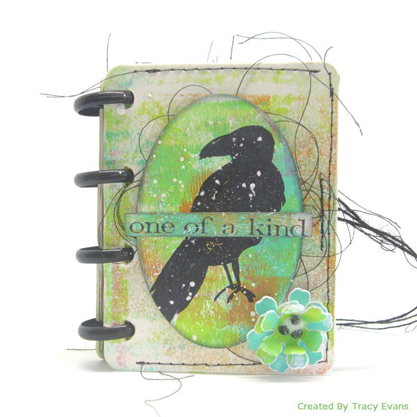 Eileen Hull's New Book Club Sizzix Collection: Mixed Media Mini Booklet by Tracy Evans