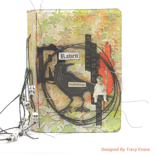 Fall Holiday Eileen Hull Sizzix Project Ideas : Halloween Raven Passport Book Tutorial by Tracy Evans