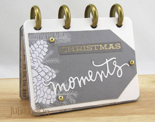 Book Club Sizzix Collection Project Ideas and Tutorials: Movers and Shapers Holiday Flip Book by Julia Aston