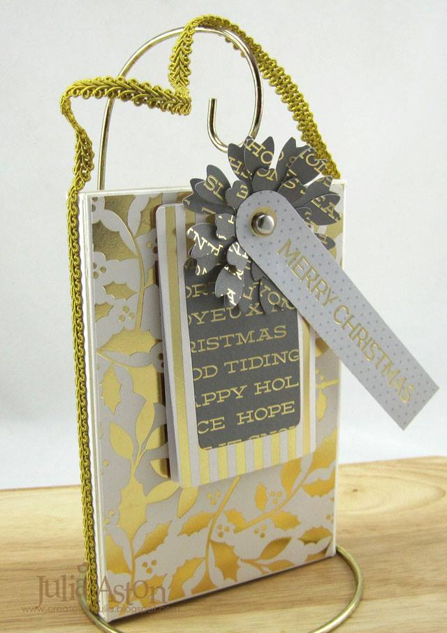 Sizzix Book Club Project Tutorials: Stamp and Storage Holiday Gift Set by Julia Aston