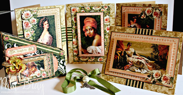"""Book Club Sizzix Collection Project Ideas: Card Box Storage """"Portrait of a Lady"""" Note Cards by Pam Bray"""