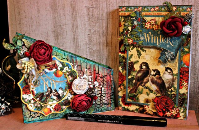 Gifts to Die For Ebook Projects and More! : Winter Book Club Card Box Storage Project by Pam Bray
