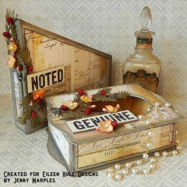 Eileen Hull Sizzix Die Gift Projects: Book Club Creations with Ranger Ink by Jenny Marples