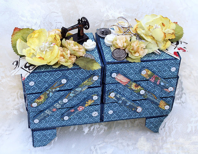 Eileen Hull Holiday Gifts and Decor Projects: Cantilever Sewing Box with Graphic 45 by Maggi Harding