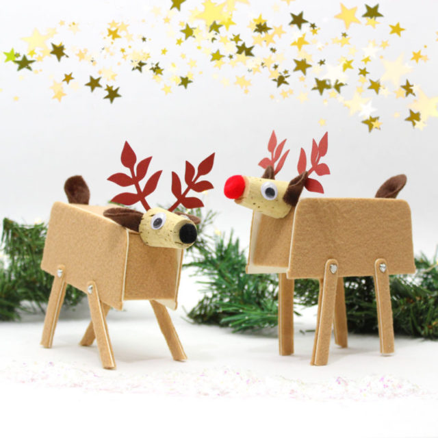 Eileen Hull Sizzix Die Gift Projects: Felt Reindeer with Sizzix Basket Die by Jonathan Fong