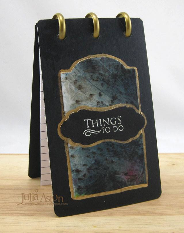"""Book Club Sizzix Projects to Love: """"Things To Do"""" Notecard Flip Book by Julia Aston"""