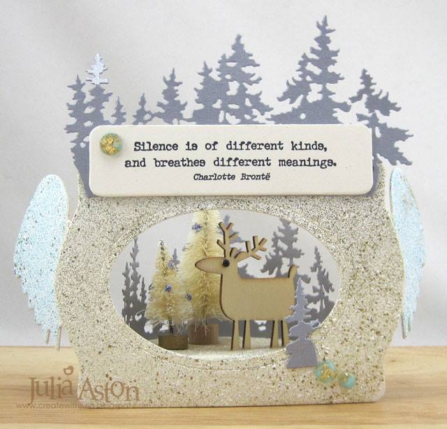 Book Club Sizzix Projects to Love: Light Up Winter Vignette with Trinket Box and Frame Die by Julia Aston