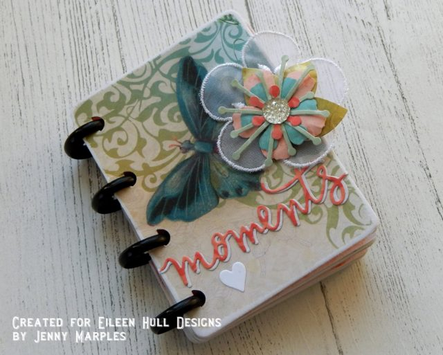 Book Club Sizzix Projects to Love: Butterflies and Blooms Book Binding Flip Book Tutorial by Jenny Marples