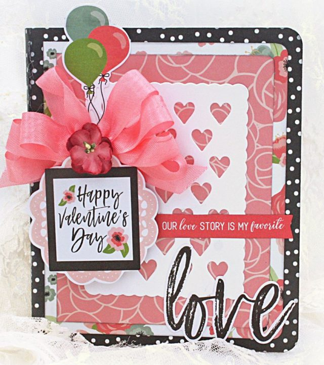 Book Club Sizzix Collection Chapter Two: Valentine's Day Card with File Folder and Gift Card Holder by Maggi Harding