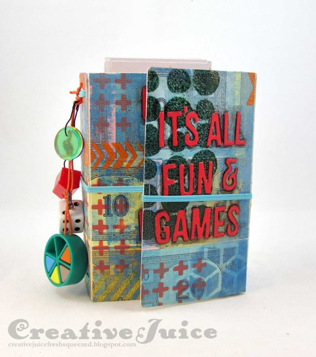 Book Club Sizzix Collection Chapter Two: Fun and Games Wrap Journal by Lisa Hoel