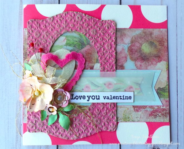 Eileen Hull Die Favorites Projects and Tutorials : Valentine's Day Card with Eileen Hull Sizzix Die Cuts by Tonya Trantham