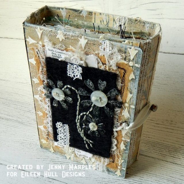 Book Club Sizzix Collection Chapter Two: Floral Fabric and Fiber Wrap Journal by Jenny Marples