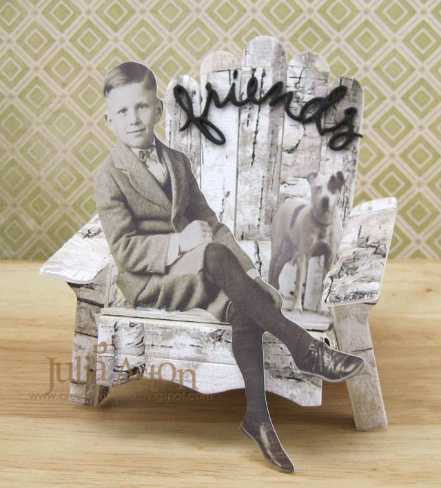 Eileen Hull Die Favorites Projects and Tutorials: Vintage Photo Adirondack Chair by Julia Aston