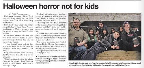 Cook Strait News post launch article.