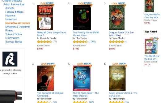 Dragons Realm beat Rick Riordan in Amazon interactive kid's fiction.