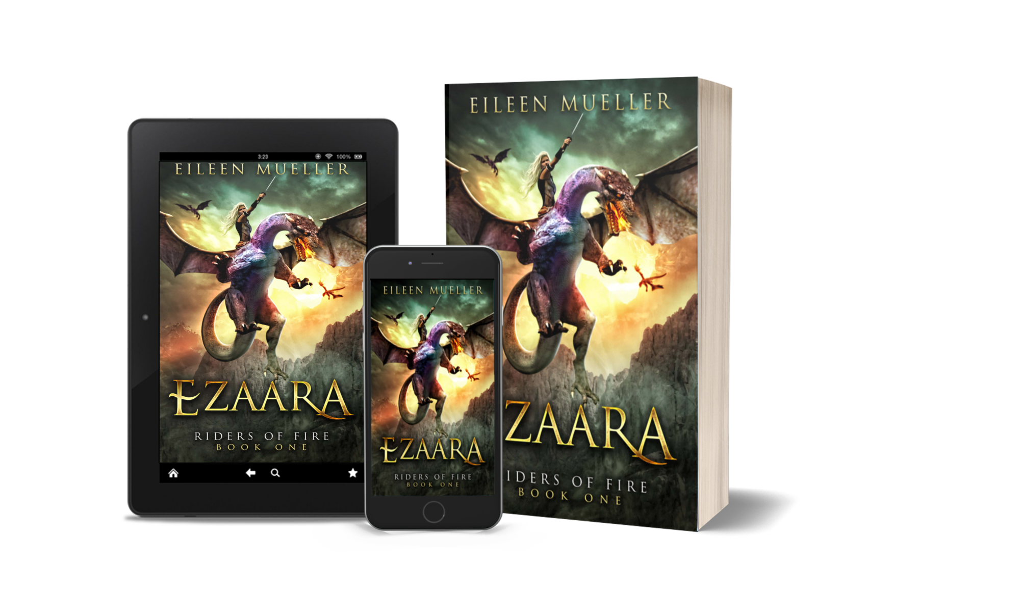 Ezaara, Riders of Fire, book 1 - YA dragon rider adventure