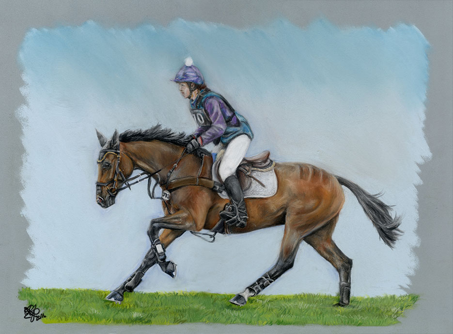 Abigail Walters and Perfick Miss Amber at Burghley 2015