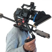 A portable TelePrompter rig for video production