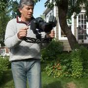 Using a video camera gyro stabilizer