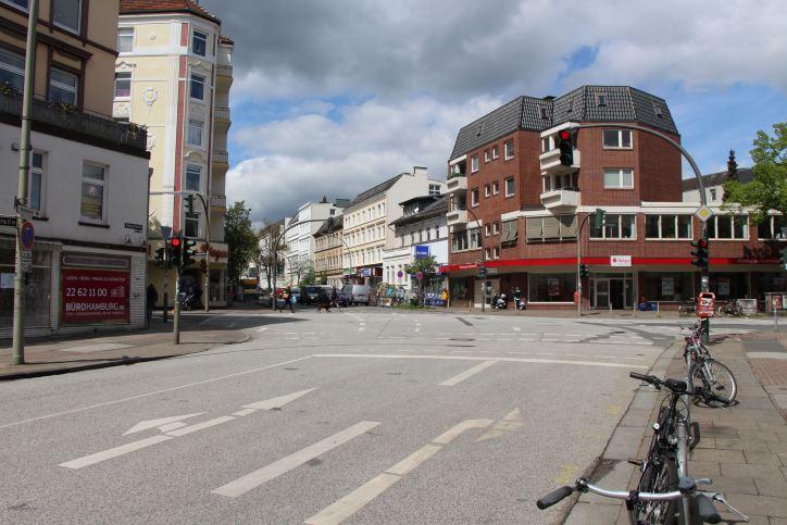 Osterstraße: Bauarbeiten an der Kreuzung Methfesselstraße