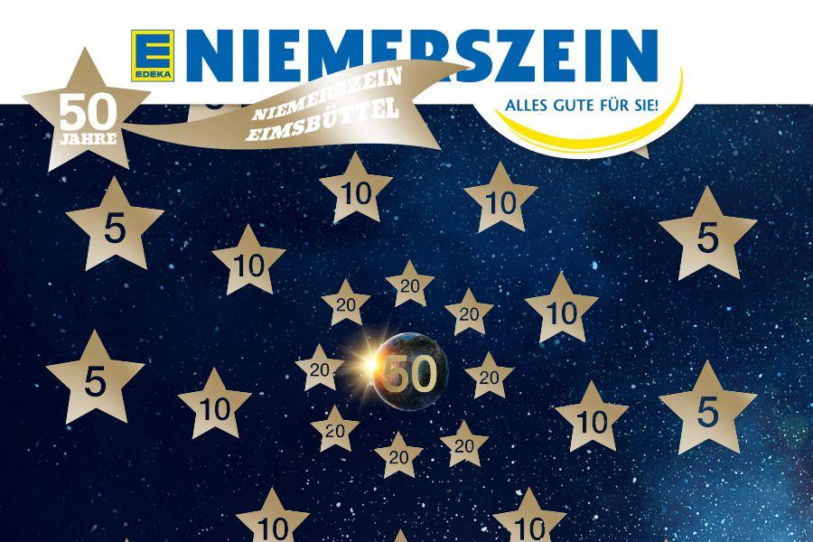 Edeka Niemerszein 50 Jahre Dartman kommt. Foto: Edeka Niemerszein