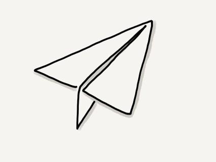 One line Papierflieger, #Reise #30daysdraworletter