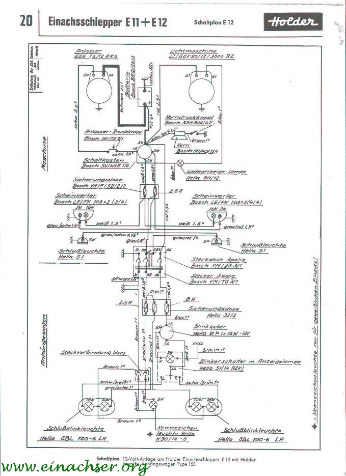 Holder B12 Schaltplan