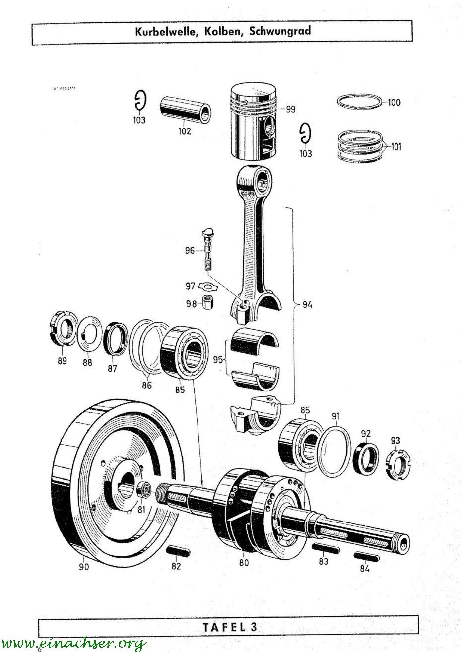 Sachs Diesel D 500 W Ersatzteilliste