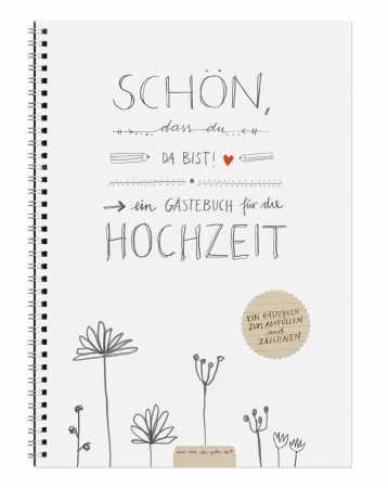 Schn dass du da bist Schwarz Wei Kalligrafie Design 24