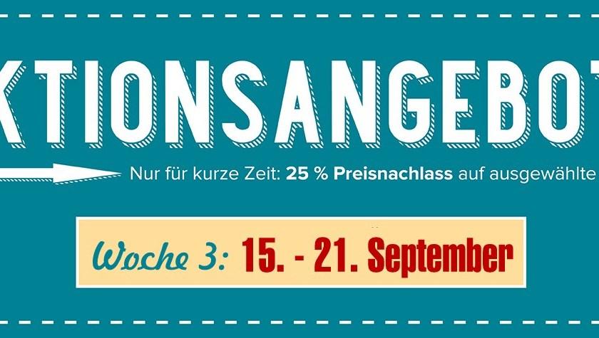 Neue Aktionsangebote 15. bis 21. September