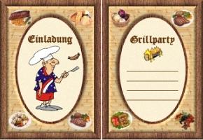 Grillfest Einladung Comic