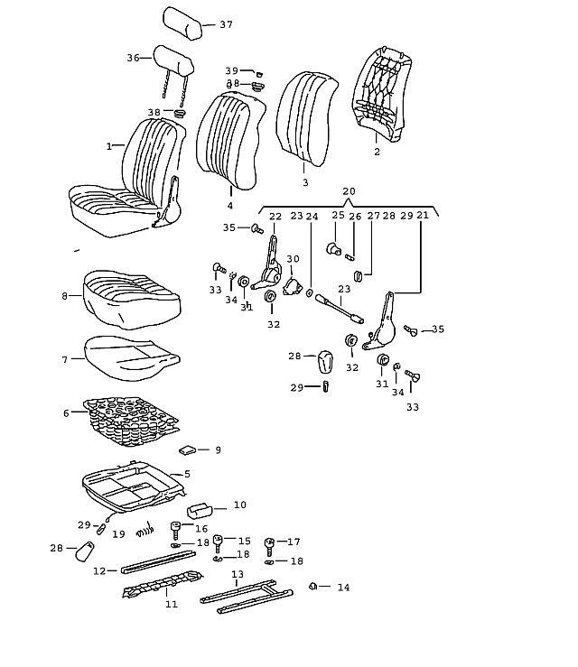 Porsche Porsche 911 1965-1969 Seat rail support (/L)…