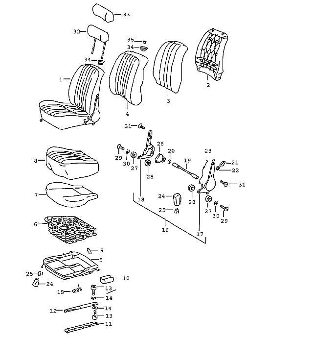Service manual [1987 Porsche 924 S Seat Rail Guide