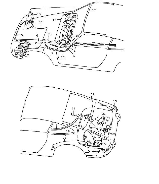 Porsche 911 1970-1973 Wiring harness control board…