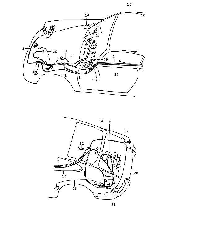 Porsche 911T 1976-1977 Wiring harness fuel pump
