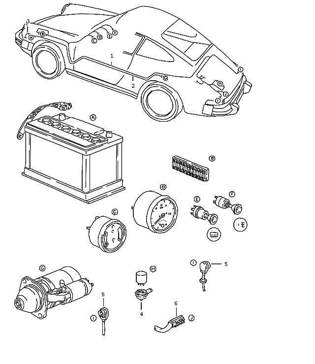 Porsche 911 1978-1983 Wiring harness tunnel (/LL),…
