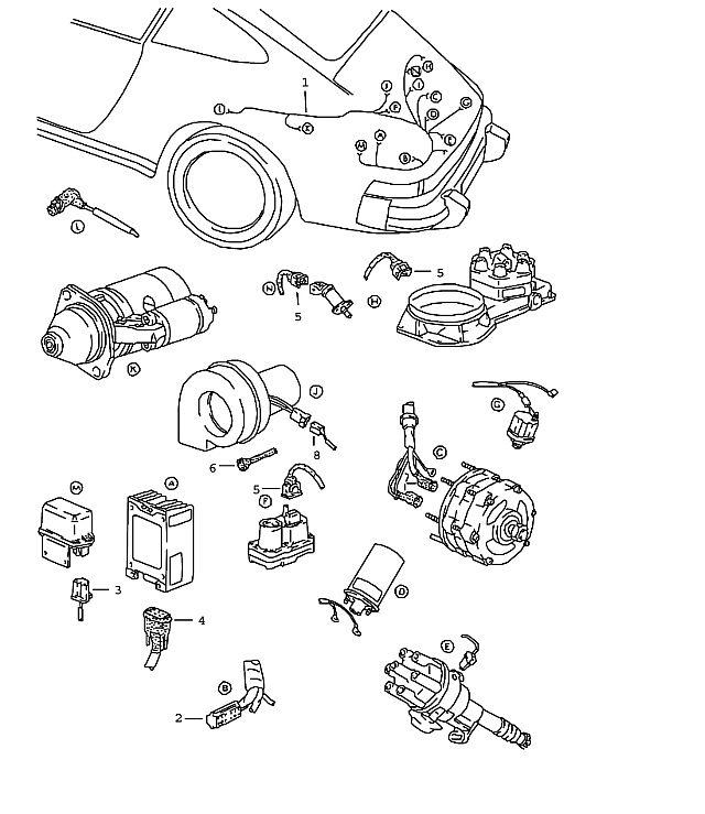Porsche 911 1978-1983 Wiring harness engine (-81),…