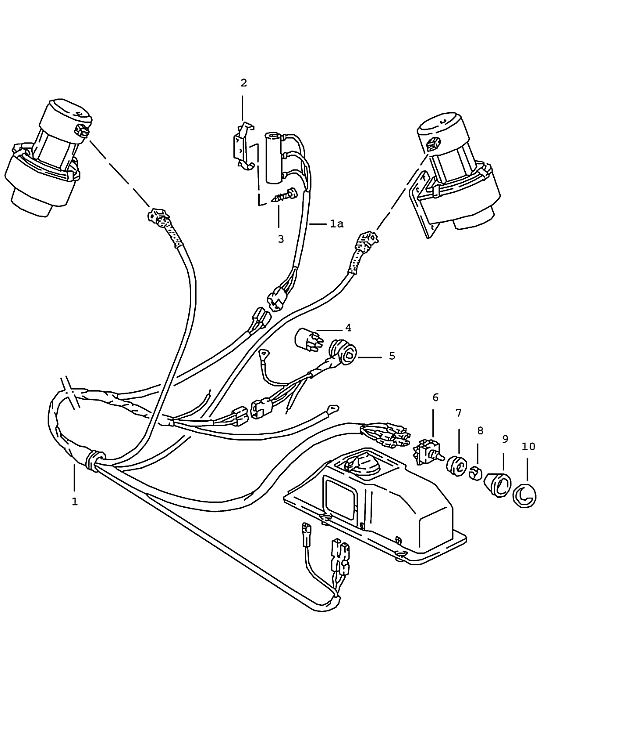 Porsche 911 1984-1986 Wiring harness (/LL), (TURBO…