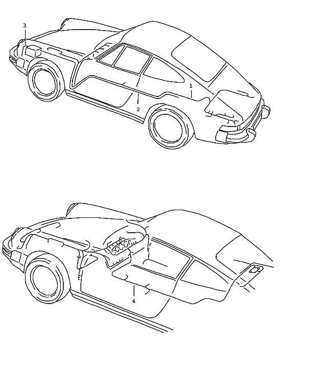 Porsche 911 1987-1989 Wiring harness NR. 1 tunnel