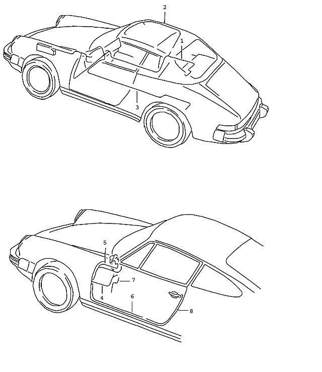 Porsche 911 1987-1989 Wiring harness passenger's d…