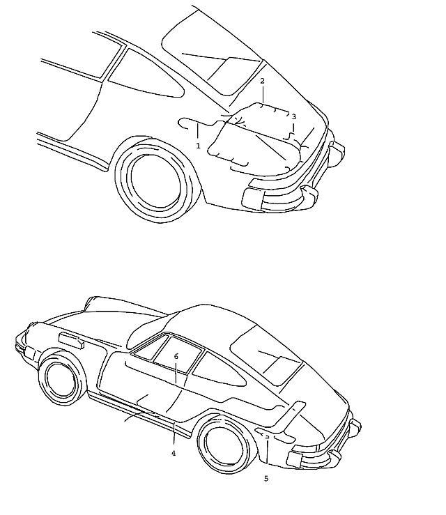 Porsche 911 1987-1989 Wiring harness injector valv…
