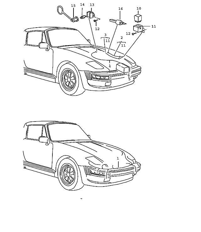 Porsche 911 1987-1989 Wiring harness relay…