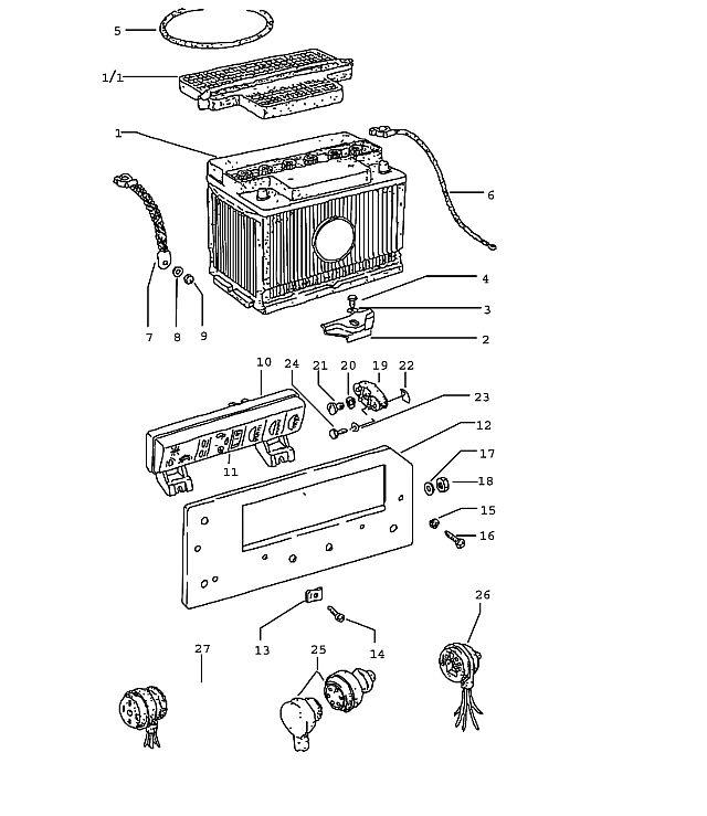Porsche 914 Socket standard type relay, cut off