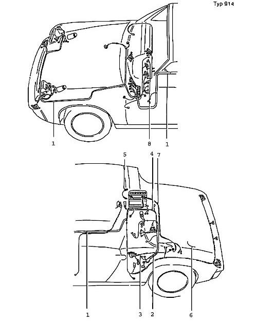 Porsche Porsche 914 Tie-wrap for engine cable (2 recommended)