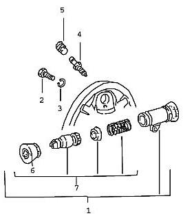 Porsche 924 1976-1979 Repair kit wheel brake cylinder 19