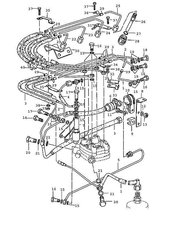 Porsche 924 1980-1985 Fuel line