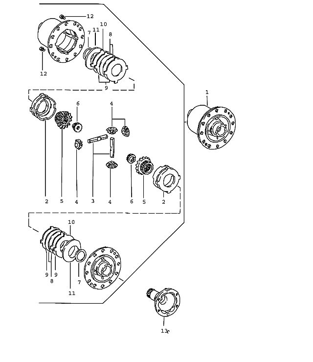 Porsche 924 1980-1985 Limited-slip differential 40 %