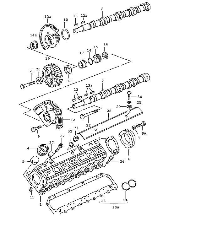 Porsche 928 1978-1982 Camshaft timing gear